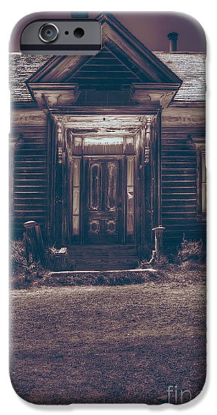 Cabin Window iPhone Cases - Is Someone Home iPhone Case by Margie Hurwich