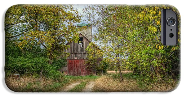 Old Barn iPhone Cases - Isaacs Old Barn iPhone Case by Pamela Baker