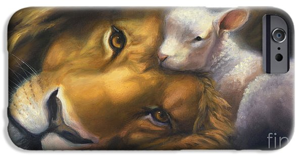 Lion Art iPhone Cases - Isaiah iPhone Case by Charice Cooper
