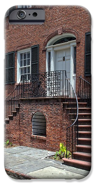 District Columbia Photographs iPhone Cases - Isaiah Davenport House iPhone Case by Greg and Chrystal Mimbs
