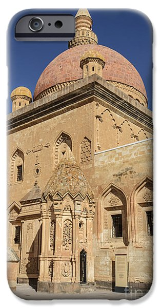 No People Pyrography iPhone Cases - Ishak Pasa Palace iPhone Case by Emirali  KOKAL