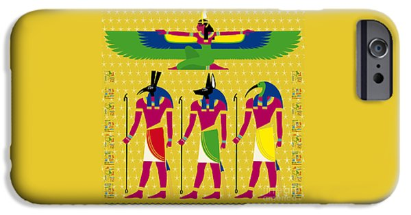 Horus iPhone Cases - ISIS and EYGPTIAN GODS iPhone Case by Neil Finnemore
