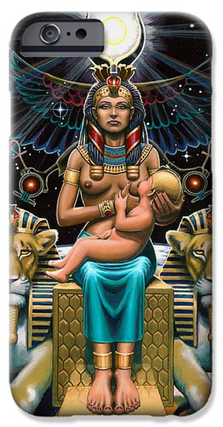 Horus Paintings iPhone Cases - Isis iPhone Case by Jonathan Weber