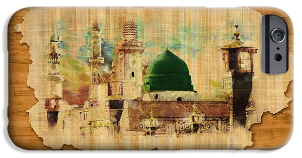 Jordan iPhone Cases - Islamic Calligraphy 040 iPhone Case by Catf