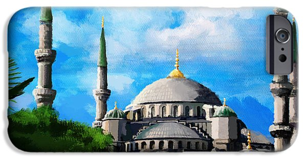 Jordan iPhone Cases - Islamic Mosque iPhone Case by Catf