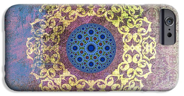 Corporate Art iPhone Cases - Islamic Motive iPhone Case by Corporate Art Task Force