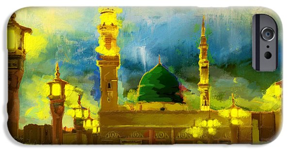 Darud Paintings iPhone Cases - Islamic Painting 002 iPhone Case by Corporate Art Task Force