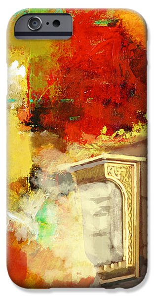 Islamic Painting 003 iPhone Case by Catf