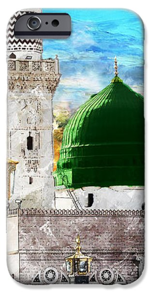 Islamic Painting 004 iPhone Case by Catf