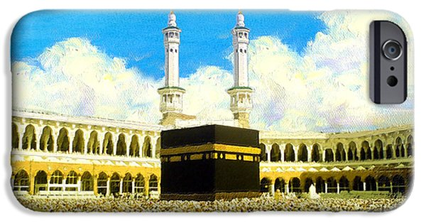 Bounties Of Allah. God Paintings iPhone Cases - Islamic Painting 006 iPhone Case by Catf