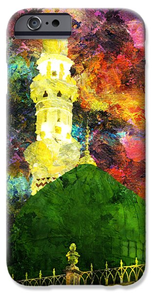 Saudia Paintings iPhone Cases - Islamic Painting 007 iPhone Case by Catf