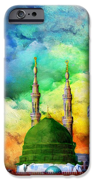 Jordan iPhone Cases - Islamic Painting 009 iPhone Case by Catf