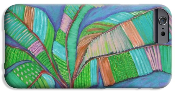 Tree Art Print iPhone Cases - Island Banana TRee iPhone Case by Catherine Lee