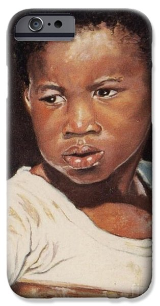 African-american Pastels iPhone Cases - Island Boy iPhone Case by John Clark