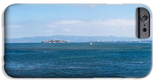 Alcatraz iPhone Cases - Island In The Ocean, Angel Island iPhone Case by Panoramic Images