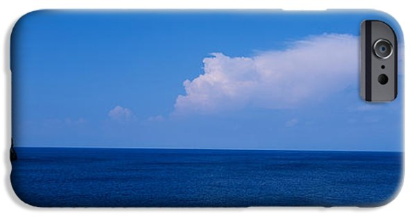 Built Structure iPhone Cases - Island In The Sea, Majorca, Spain iPhone Case by Panoramic Images