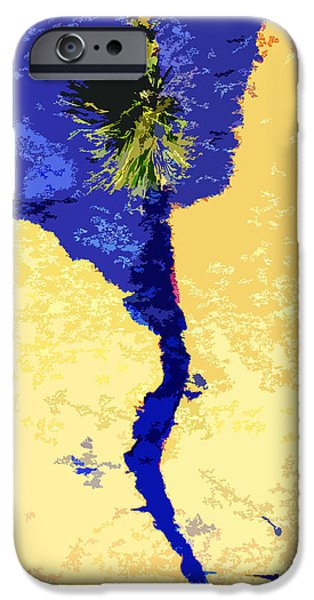 Abstractions Digital iPhone Cases - Island in the Sun iPhone Case by John Lautermilch