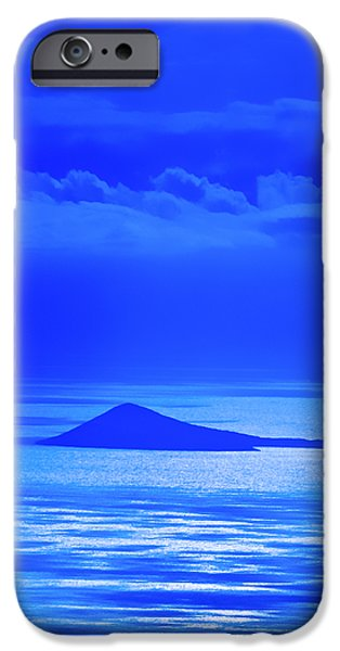 Blue iPhone Cases - Island of Yesterday iPhone Case by Christi Kraft
