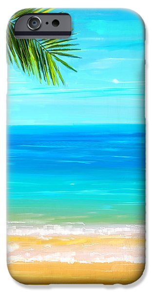 Abstract Seascape iPhone Cases - Island Paradise iPhone Case by Lourry Legarde