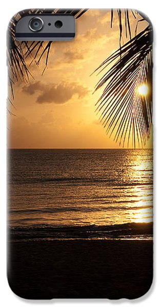 Island Sunset iPhone Case by Charles Dobbs