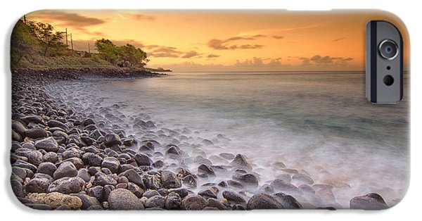 Banzai iPhone Cases - Island Sunset in Oahu iPhone Case by Tin Lung Chao