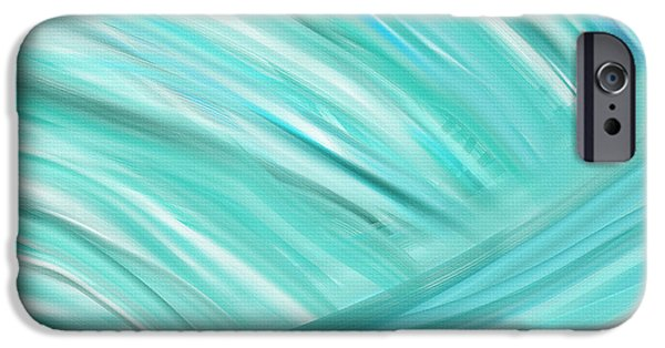 Abstract Seascape iPhone Cases - Island Time iPhone Case by Lourry Legarde