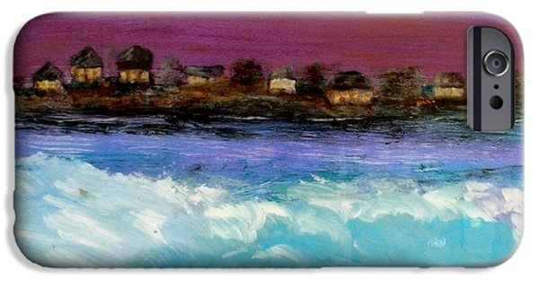 Prescott Paintings iPhone Cases - Island Twilight iPhone Case by Mark Prescott Crannell
