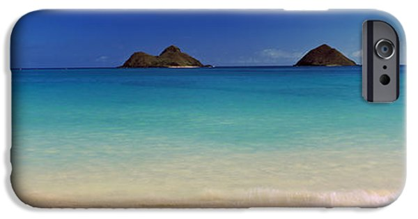 Ocean Photography iPhone Cases - Islands In The Pacific Ocean, Lanikai iPhone Case by Panoramic Images