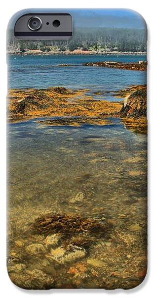 Isle au Haut Beach iPhone Case by Adam Jewell