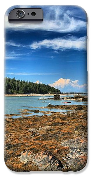 Isle au Haut House iPhone Case by Adam Jewell