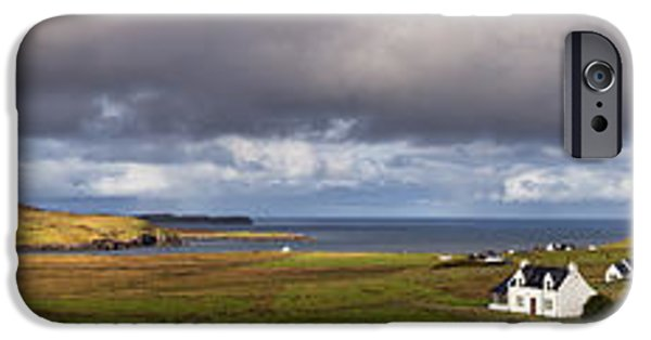 North Sea iPhone Cases - Isle of Skye pano iPhone Case by Jane Rix