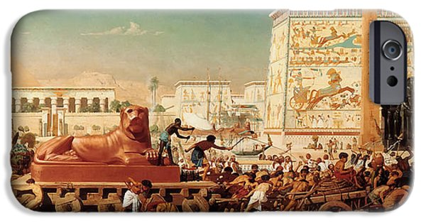 Concept Paintings iPhone Cases - Israel in Egypt iPhone Case by Edward Poynter
