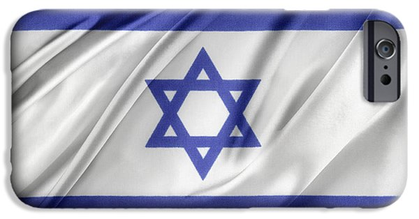 Israeli iPhone Cases - Israeli flag iPhone Case by Les Cunliffe