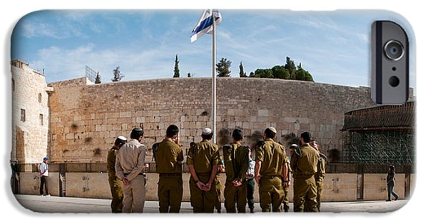 Israeli iPhone Cases - Israeli Soldiers Being Instructed iPhone Case by Panoramic Images