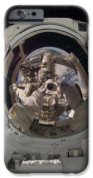 ISS Expedition 32 Spacewalk iPhone Case by NASA JSC