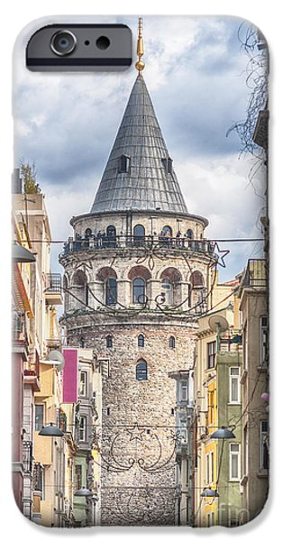 Istanbul iPhone Cases - Istanbul Galata Tower iPhone Case by Antony McAulay