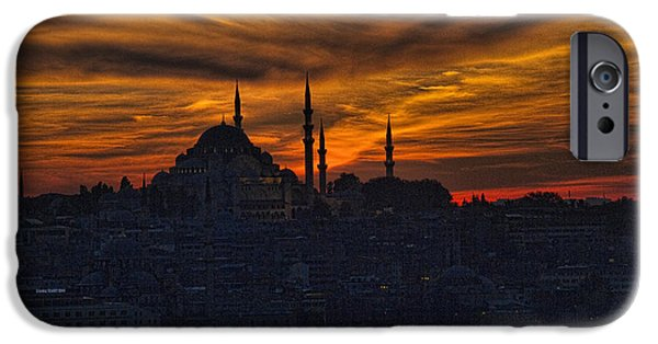 Interface iPhone Cases - Istanbul Sunset - A Call to Prayer iPhone Case by David Smith