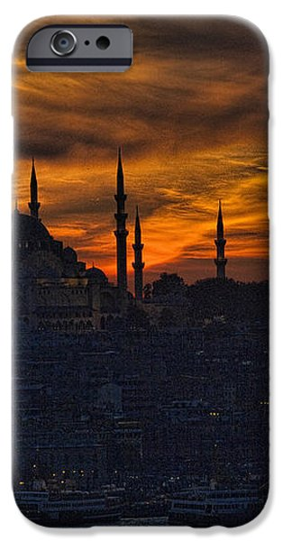 Istanbul Sunset - A Call to Prayer iPhone Case by David Smith