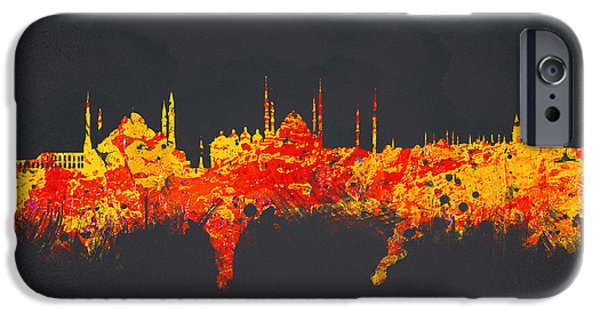 Business Mixed Media iPhone Cases - Istanbul Turkey iPhone Case by Aged Pixel