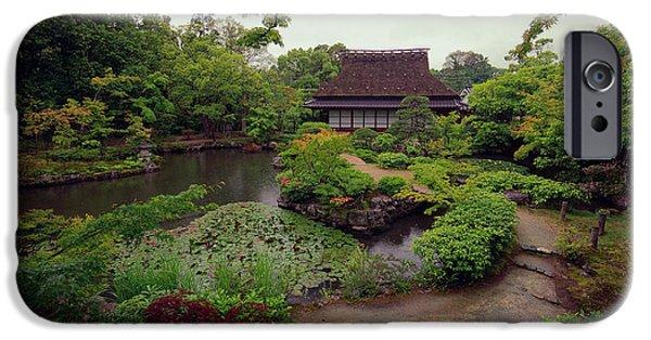 Nara iPhone Cases - Isuien Garden Tea House - Nara Japan iPhone Case by Daniel Hagerman