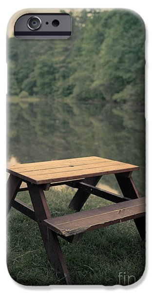 Furniture iPhone Cases - It came from the lake iPhone Case by Edward Fielding