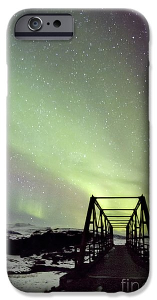 Aurora iPhone Cases - It Came Upon A Midnight Clear iPhone Case by Evelina Kremsdorf