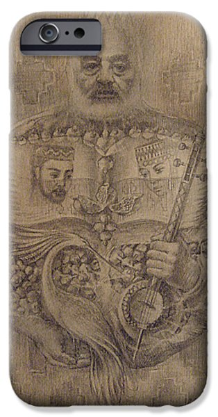 Painter Drawings iPhone Cases - It is devoted to great Paradzhanov iPhone Case by Meruzhan Khachatryan
