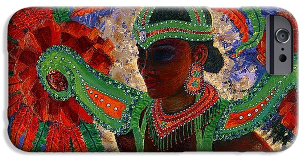 Mardi Gras Paintings iPhone Cases - It Looks Like Mardi Gras Time iPhone Case by Margaret Bobb