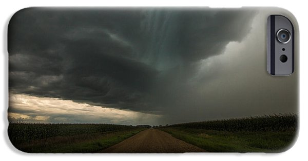 Storm iPhone Cases - It looks like rain... iPhone Case by Aaron J Groen