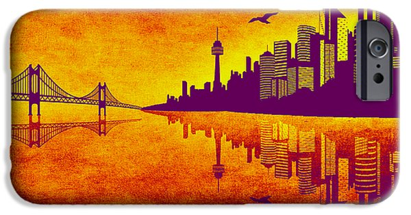 It Was Us That Scorched The Sky iPhone Case by Angelina Vick