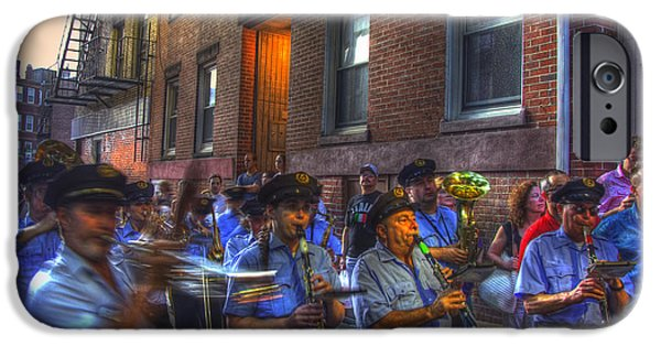 Celebrities Photographs iPhone Cases - Italian Band - North End Boston iPhone Case by Joann Vitali