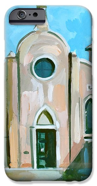 Venetian Doors iPhone Cases - Italian Church iPhone Case by Filip Mihail