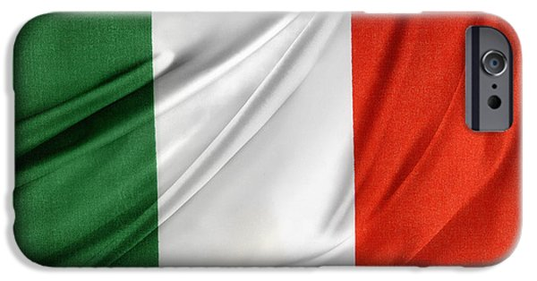 Flag iPhone Cases - Italian flag  iPhone Case by Les Cunliffe