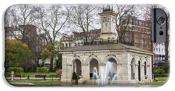 Nature Scene iPhone Cases - Italian Fountain in London Hyde Park iPhone Case by Semmick Photo